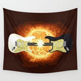Two Guitars Wall Tapestry