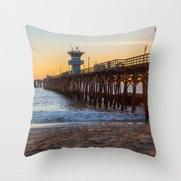 Seal Beach Sunset Throw Pillow