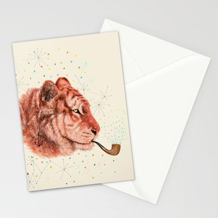 Red Tiger Stationery Cards