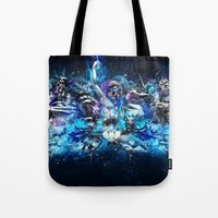 mythology Tote Bags featuring Mythology by theycallmeteddy