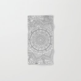 gray splash mandala swirl boho Hand & Bath Towel