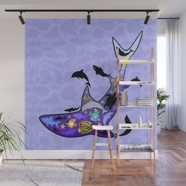 Shark MarineLife Scenery Patterned Wall Mural
