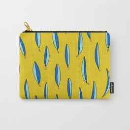 Yellow and Blue Leaves by Emma Freeman Designs Carry-All Pouch