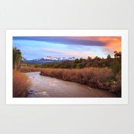Sunset on the Uncompahgre River Art Print