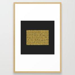 Kursi surat Framed Art Print