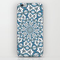snowflake iPhone & iPod Skins featuring Snowflake by Stay Inspired