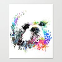 shih tzu Canvas Prints featuring Shih TZU  by PhotosbySN