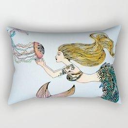 Jellyfish and Mermaid Rectangular Pillow