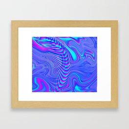 GLITCH MOTION WATERCOLOR OIL Framed Art Print