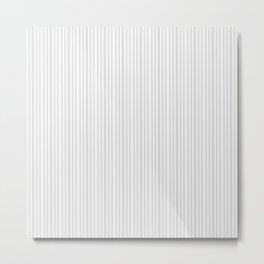 Pastel gray white vintage stylish geometrical stripes Metal Print