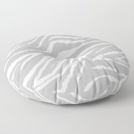 ZEBRA 2 GRAY AND WHITE ANIMAL PRINT Floor Pillow
