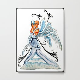 Brain Cancer Angel Metal Print