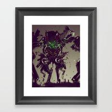Mecha Titan Tremor Framed Art Print