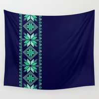 nordic Wall Tapestries featuring NORDIC by Oksana Smith