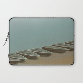 Boats on the shore Laptop Sleeve