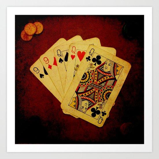 Ful de Damas (Dirty Poker) Art Print