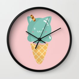 Mint Ice-cream Wall Clock
