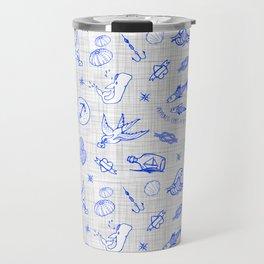 The sea messenger / Cobalt blue Travel Mug