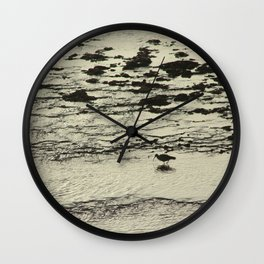 Curlew Wader Bird Rocky Seashore Wall Clock