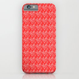 Red Christmas Wrapping Paper Pattern iPhone Case
