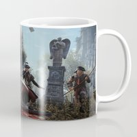 assassins creed Mugs featuring Assassins Creed Unity Spear Scene by TParish Productions