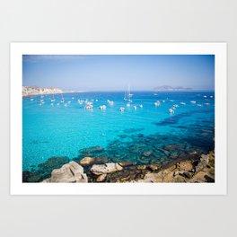 Favignana island Cala Rossa Art Print
