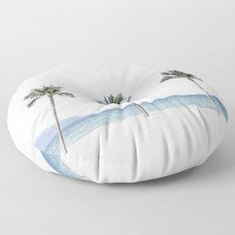 Palm trees 6 Floor Pillow