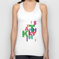 typo Tank Tops featuring typo by nuage rouge