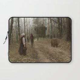 better watch out, he really likes mushrooms Laptop Sleeve