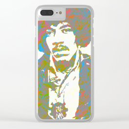 Psychedelic Hendrix Clear iPhone Case