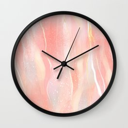 Himalayan Salt | Digital Painting | Abstract | Pink  Wall Clock