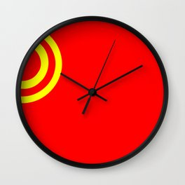 Nicubunu Commie Flag Wall Clock