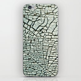 Abstract pattern light green iPhone Skin