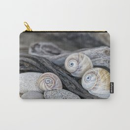Shark's eye shells and driftwood Carry-All Pouch