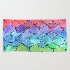 Rainbow Scales Beach Towel