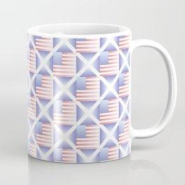 Mix of flag  : usa and scotland 2 with color gradient Coffee Mug