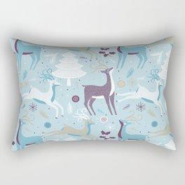 Sky Blue Xmas Rectangular Pillow