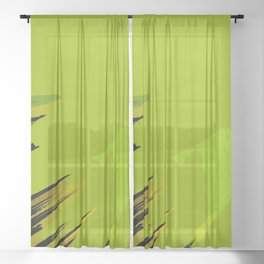 abstraction portrait Sheer Curtain