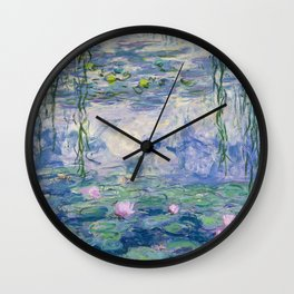 "Claude Monet ""Water Lilies(Nymphéas)"" (9) 1916–19.jpg Wall Clock"