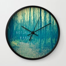 Wander in the Woods Wall Clock