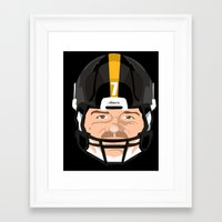steelers Framed Art Prints featuring Faces- Pittsburgh by IllSports