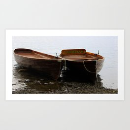 Boat yard Art Print