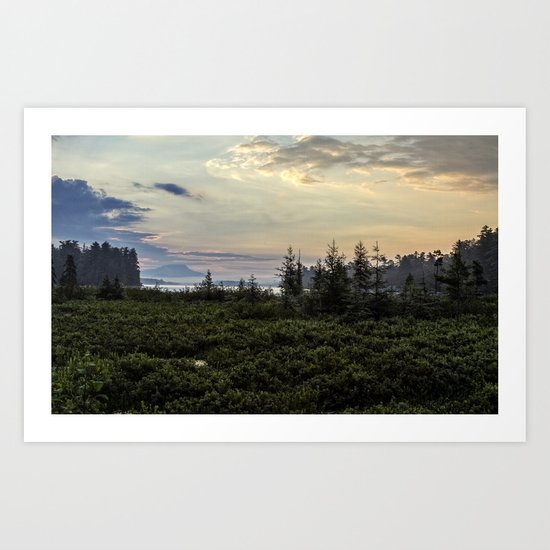 in the morning Art Print