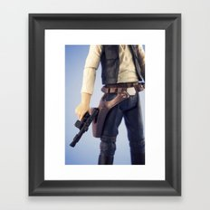 Good Shot Kid Framed Art Print