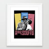 godard Framed Art Prints featuring A Bout de Souffle by Douglas Simonson