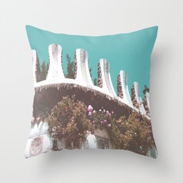 Dancing in the streets of Barcelona Throw Pillow