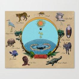 Creation Myth (Congo creation myth)  Canvas Print