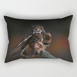 owl bird photo Rectangular Pillow