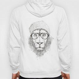 Cool lion (bw) Hoody