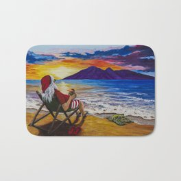 Sunset Santa Bath Mat